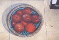 kitchen floor apples