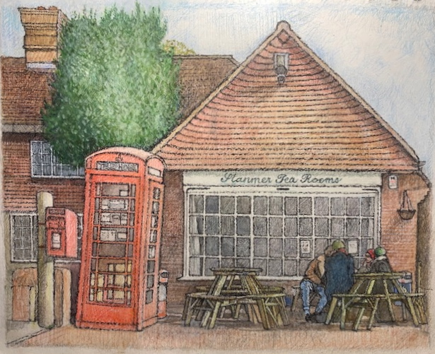 """Stanmer Tea Rooms 9""""x10"""""""