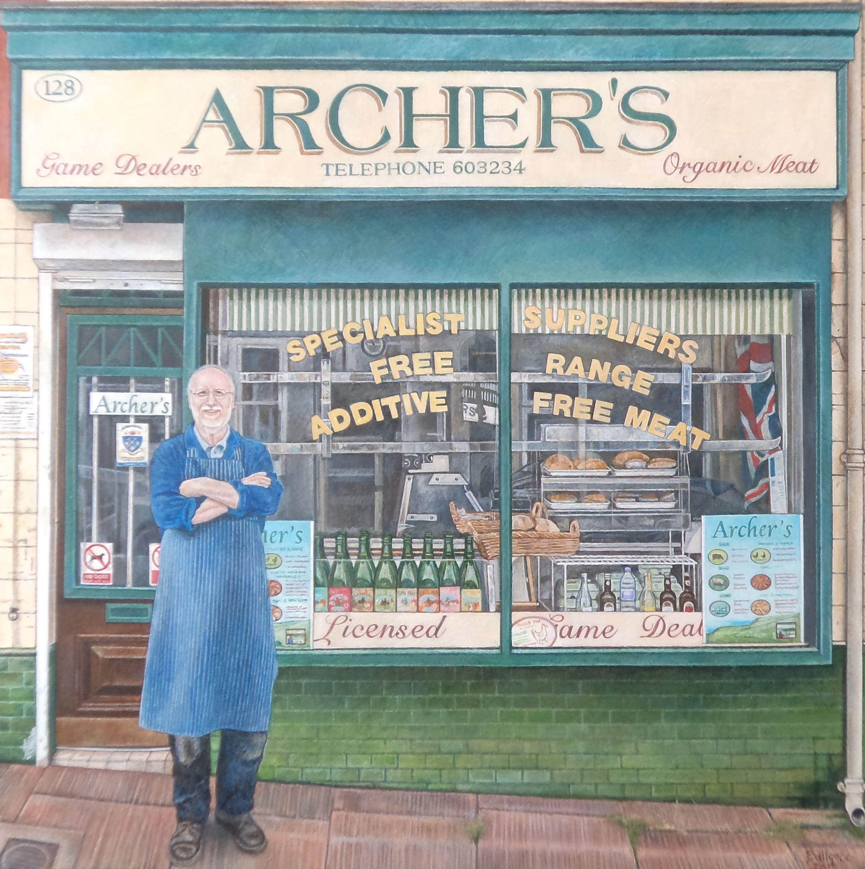 """Archers 20""""x20"""" Acrylic on board."""