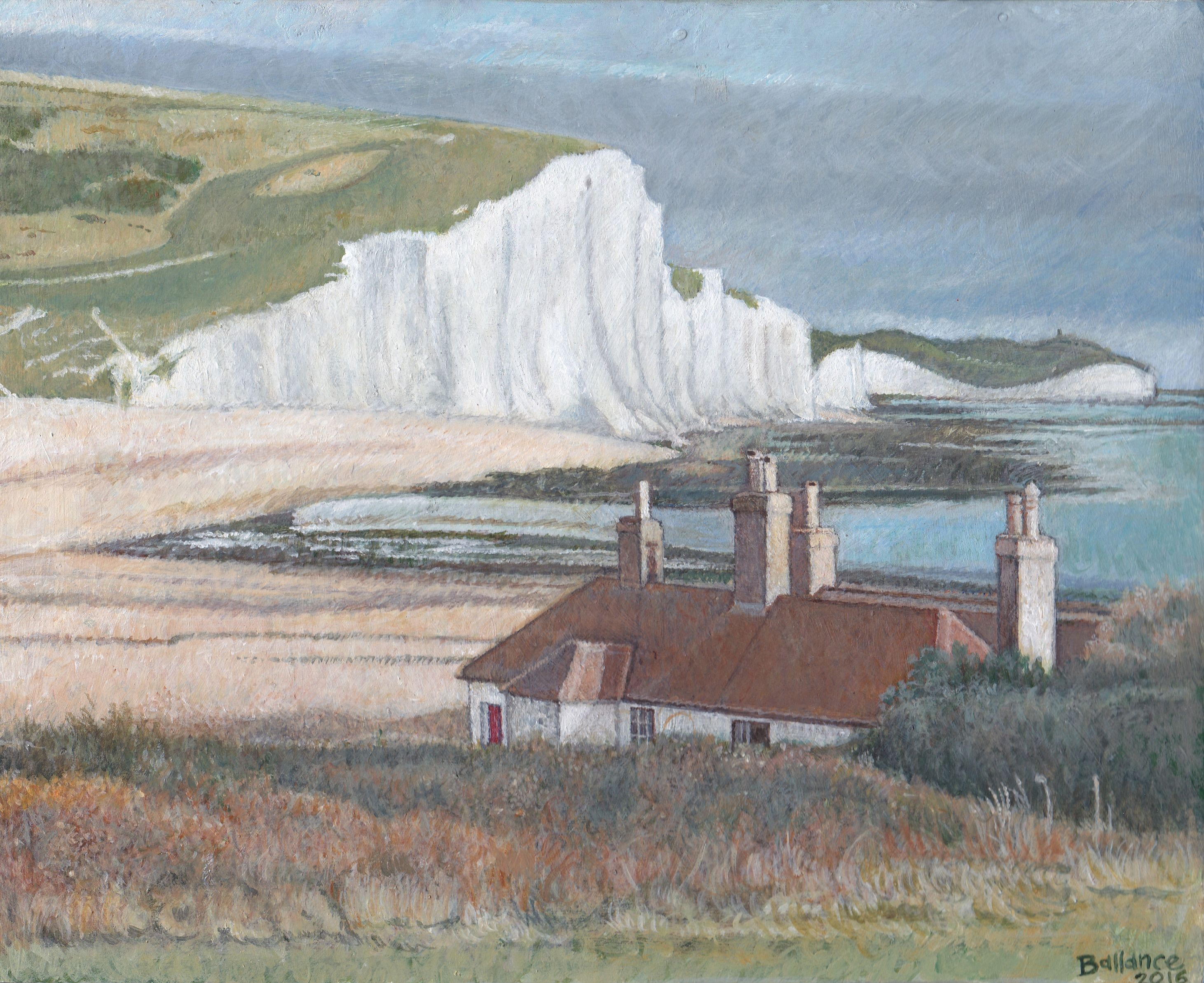 "Cuckmere Haven. 8""x10"". Acrylic on board."