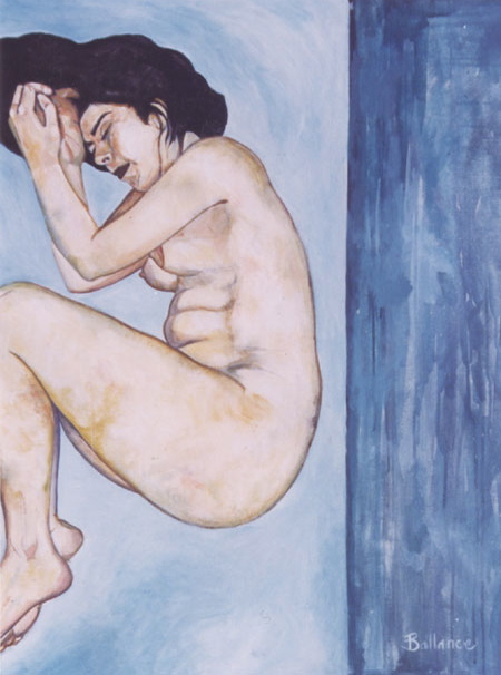 """Nude2 Acrylic on canvas 36""""x48"""""""
