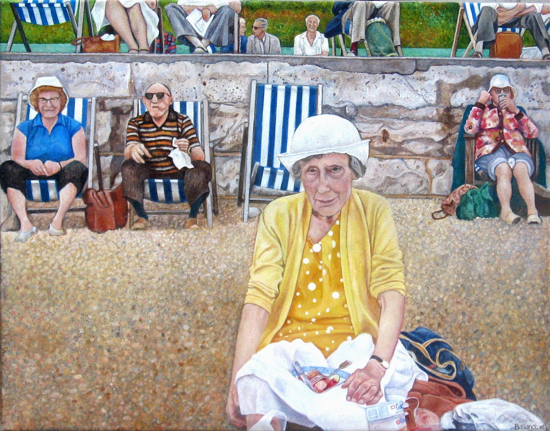 """Day Trip to Eastbourne 16""""x24"""". Acrylic on canvas"""