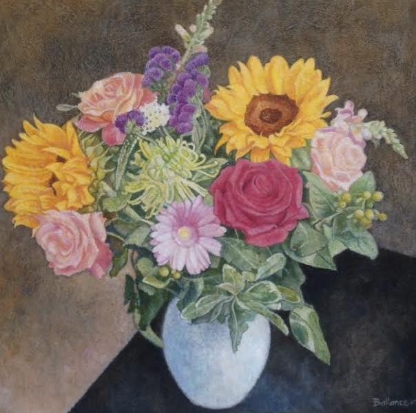 """Flowers 16""""x16"""" £350"""