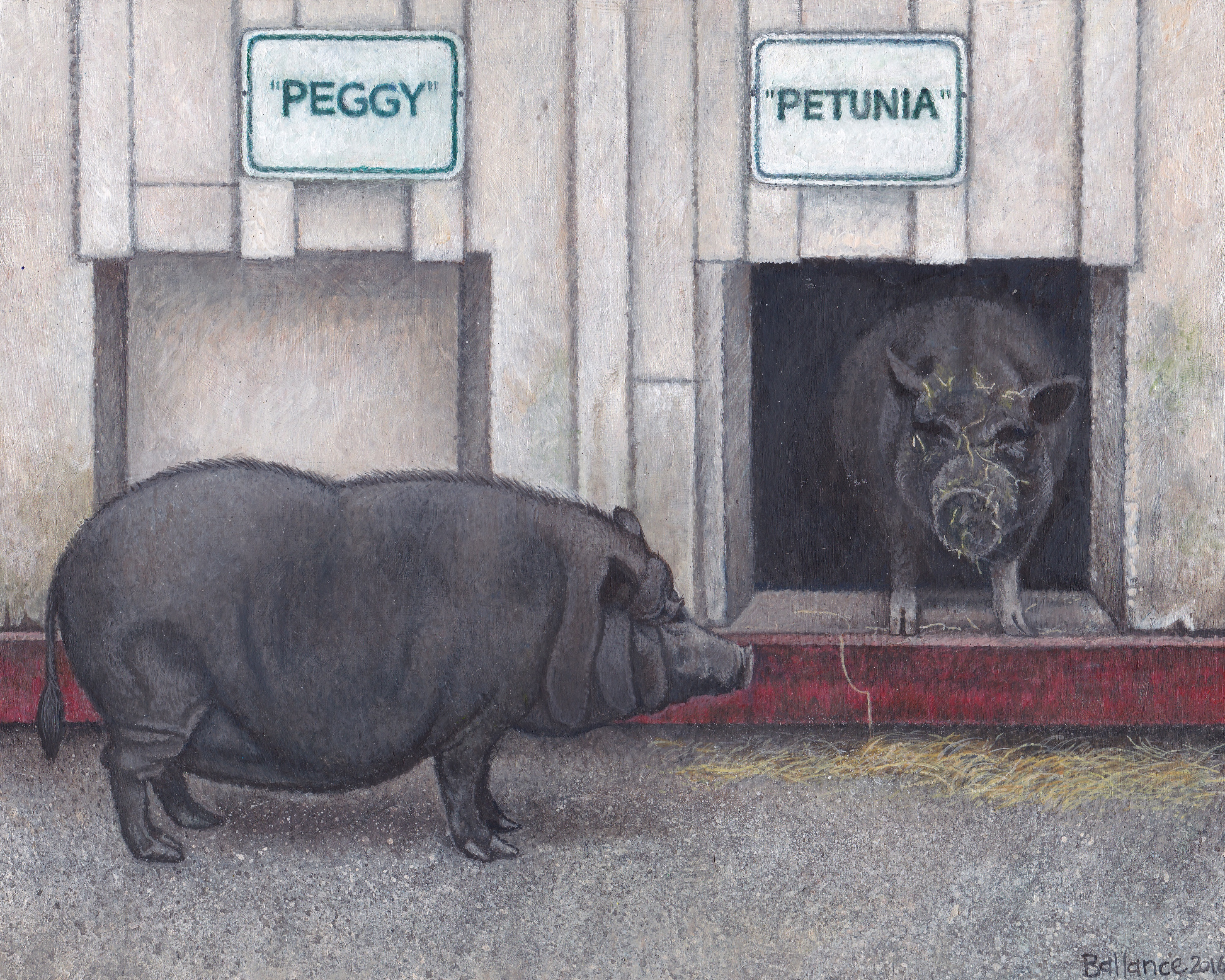 """Peggy and Petunia 8""""x10"""" £145"""